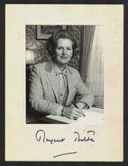 MARGARET THATCHER - Original Autograph - Hand Signed Photo - RARE! - People