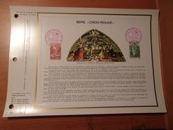 FRANCE (1970) CROIX ROUGE Chapelle De Dissay (vienne) - Documents De La Poste