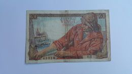 FRANCIA 20 FRANCS 1942 - 1871-1952 Circulated During XXth