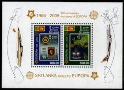 (724) Sri Lanka  2006 / Europa Cept Jubilee Sheet / Stamp On Stamp / Timbre Sur Timbre ** / Mnh   Michel BL 102 A - Sri Lanka (Ceylan) (1948-...)