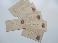 GB 7 Streifbänder Um 1888 / 1892 Z.T. Stempel Liverpool Exchange. Alle Nach Deutschland Gesendet! - Briefe U. Dokumente