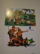 2 Tamura Phonecards From Indonesia - Jamboree - Indonesia