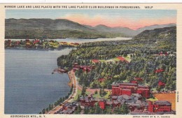 New York Mirror Lake and Lake Placid With The Lake Placid Club B