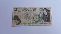 COLOMBIA 20 PESOS ORO 1983 - Colombia