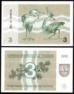 Lithuania 3 TALONAS 1991 P 33b UNC (Lituanie,Litauen,Litauen) - Lituania