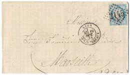 LETTRE Avec N° 60 ; 55 G1  1  Er état  TTB - 1871-1875 Cérès