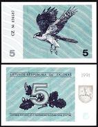 Lithuania 5 TALONAS 1991 P 34b UNC (Lituanie,Litauen,Litauen) - Litouwen