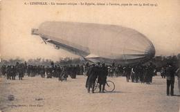 (54) Lunéville - Moment Critique - Le Zeppelin Délesté à L'arrière Pique Du Nez - Avril 1913 Dirigeable Aviation Ballon - Luneville