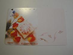 1 Tamura Phonecard From Indonesia - Flowers - Indonesia