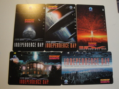 5 Tamura Phonecards From Indonesia - Independence Day - Indonesia