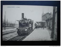 Cpa/pk Flémalle-Haute Le Départ Train Loco - Flémalle