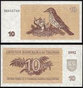 Lithuania 10 TALONAS 1992 (NG) P 40 UNC (Lituanie,Litauen,Litauen) - Lithuania
