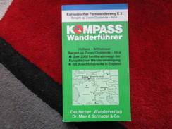 """Europäischer Fernwanderweg E2 """"Kompass Wanderführer / De 1979 - France"""
