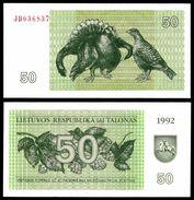 Lithuania 50 TALONAS 1992 P 41 UNC (Lituanie,Litauen,Litauen) - Lituanie