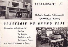 CPSM - 50 - GRANVILLE - Brasserie Du Grand Café - Granville