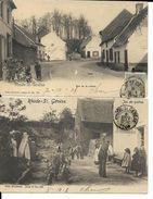 RHODE - ST.-GENESE   2 CARTES  RUE DE LA CUILLER  ET   JEU DE QUILLES     ( ECRITE  1906 ) - Rhode-St-Genèse - St-Genesius-Rode