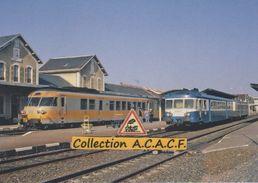 Turbotrain RTG (Bordeaux-Lyon) Et Autorail X 2827 En Gare De Gannat (03) - - Other Municipalities