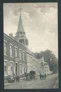 Philippeville.  Estaminet, Animation, Calèche, Eglise. Vue Verticale Edit. Simon Marchal. 1919. 2 Scans. - Philippeville