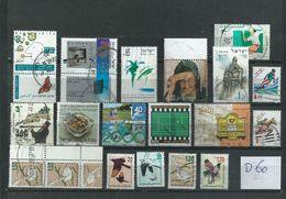 Israel 18x Used/gebruikt/oblitere(D-60) - Verzamelingen (zonder Album)