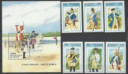 Benin 1997 Year , Soldiers Clothes , Set. Stamps & Block MNH (**) - Benin – Dahomey (1960-...)