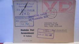 Dienst/ZKD: Postsache Als Vertrauliche Dienstsache Vom 26.8.68 Abs: Deutsche Post Fernmeldeamt 92 Freiberg Knr: VD - Service