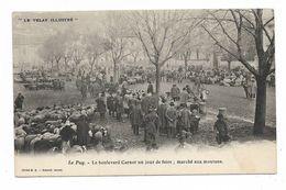 CPA 43 LE PUY EN VELAY Le Boulevard CARNOT Un Jour De Foire : Marché Aux Moutons - Le Puy En Velay