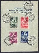 Kingdom Of Yugoslavia 1938 Aircraft Exhibition, Cover - 1931-1941 Royaume De Yougoslavie