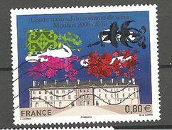 FRANCE 2016 CENTRE NATIONAL DE COSTUMES DE SCENES MOULINS 2006 - 2016 Oblitéré - Used Stamps