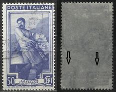 # Filigrana Lettere Bassa 10/10 - 50 Cent. Ruota 1° DB - Italia Al Lavoro (vedi Scan) - 1946-60: Gebraucht