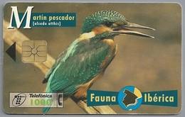 ES.- Telefonica De Espana. CabiTel. Martin Pescador. Alcedo Atthis. IJsvogel. Fauna Iberica. 2 Scans - Vogels