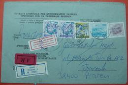 1989 RECOMMANDE JUDICAL COVER, POSTMARK *PRIZREN To TRAVNIK*, BOSNIA AND HERZEGOVINA-KOSOVO-SERBIA. BILINGUAL, - Serbia