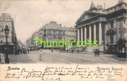 CPA  BRUXELLES BOULEVARD ANSPACH TRAM - Avenues, Boulevards