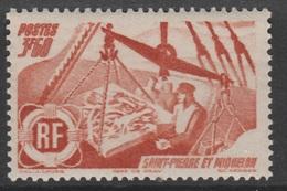 Saint Pierre And Miquelon, Fishing, 3f60., 1947 MNH VF - St.Pedro Y Miquelon