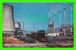 WEST BENGAL, INDE - DURGAPUR STEEL PLANT IN 1966  - ANIMATED WITH TRAINS - - Inde