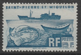 Saint Pierre And Miquelon, Fishing Trawler, 6f., 1947 MNH VF - St.Pierre & Miquelon