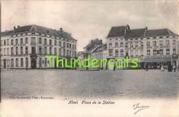 CPA AALST ALOST  PLACE DE LA STATION - Aalst