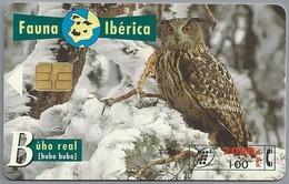 ES.- Telefonica De Espana. CabiTel. Buho Real. Bubo Bubo. Uil. Fauna Iberica. 2 Scans - Uilen