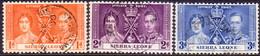 SIERRA LEONE 1937 SG #185-87 Compl.set Used Coronation Small Thin On 3d - Sierra Leone (...-1960)
