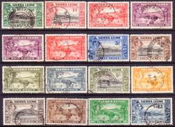 SIERRA LEONE 1938-44 SG #188-200 Compl.set Used CV £80 - Sierra Leone (...-1960)