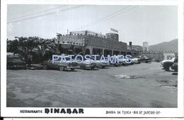 82945 BRAZIL BRASIL RIO DE JANEIRO BARRA DE TIJUCA RESTURANT DINABAR PUBLICITY PHOTO NO POSTAL TYPE POSTCARD - Fotografia