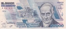 BILLETE DE MEXICO DE 20000 PESOS AÑO 1988 DE ANDRES QUINTANA EN CALIDAD EBC (XF)   (BANKNOTE) - México