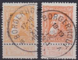 Belgie  .   OBP   .    79  / 79a     .    (2   Scans )     .   O   .   Gebruikt  .   /    .   Oblitéré - 1905 Grosse Barbe