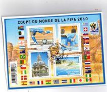 BLOC OBLITERE COUPE DU MONDE DE LA FIFA 2010 - Blocs & Feuillets