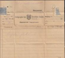 DR Telegramm 5.5.1925, Hannover - Alemania