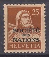 SCHWEIZ  Völkerbund (SDN) 18, Postfrisch *, 1924 - Service