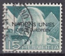 SCHWEIZ  Europäisches Amt Der Vereinten Nationen (ONU/UNO) 3 I, Gestempelt, 1950 - Dienstpost