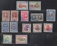 HONDURAS Lot Of 14 Used Stamps - Some With Overprints - Honduras