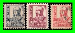 ESPAÑA 1936-37 CIFRAS, CID E ISABEL    SELLOS DE DIFERENTES  VALORES - 1931-50 Nuevos & Fijasellos