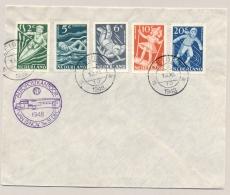 Nederland - 1948 - Kindserie Kinderspelen Op Cover Met Stempel Leiden En Autopostkantoor - Brieven En Documenten