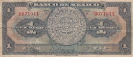 Mexico #28a 1 Peso Series A 1936 Banknote Money Currency - Mexico